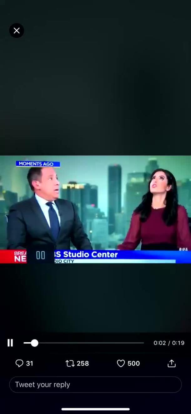 Οι στιγμές του σεισμού στην Καλιφόρνια σε τηλεοπτικό στούντιο