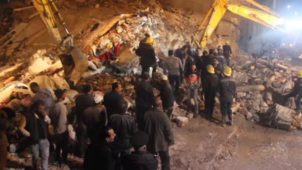 Kατάρρευση κτηρίου στην Αίγυπτο
