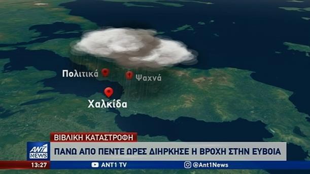 Εύβοια: πρωτοφανής η ένταση των βροχοπτώσεων που έπληξαν την περιοχή