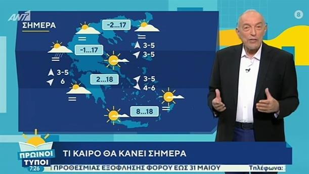 ΚΑΙΡΟΣ – ΠΡΩΙΝΟΙ ΤΥΠΟΙ - 01/03/2020