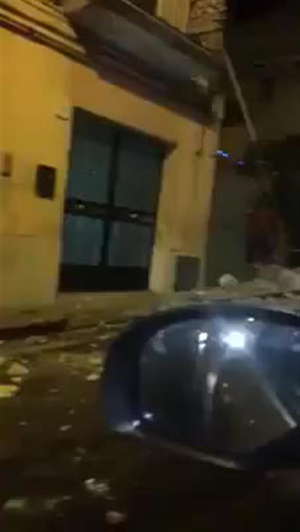 Καταστροφές από το σεισμό στην Κατάνια