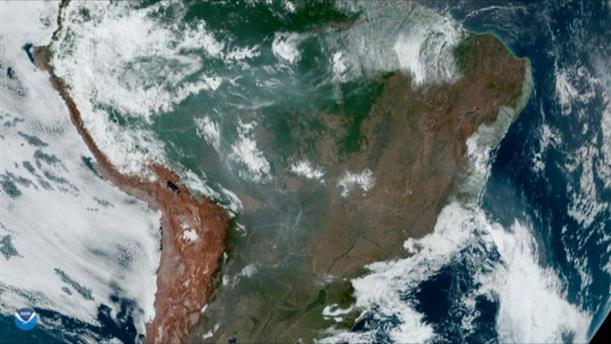 Εικόνες της NASA από τη φωτιά στον Αμαζόνιο