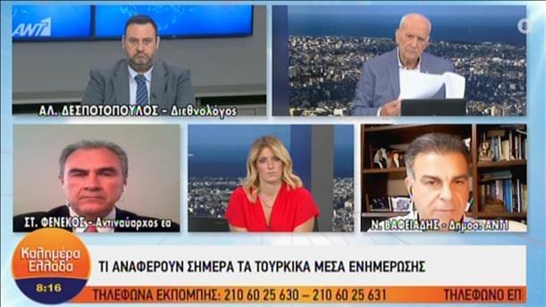 """Δεσποτόπουλος  και Φενέκος στην εκπομπή """"Καλημέρα Ελλάδα"""" για τις τουρκικές προκλήσεις"""
