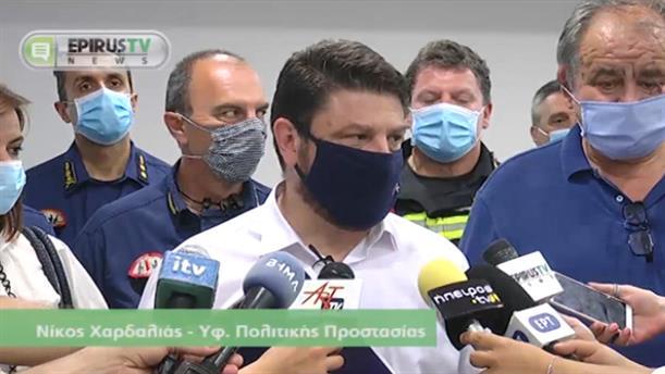 Ο Νίκος Χαρδαλιάς στο Αεροδρόμιο Ιωαννίνων