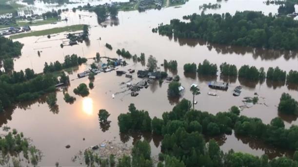 Καταστροφικές πλημμύρες στη Σιβηρία