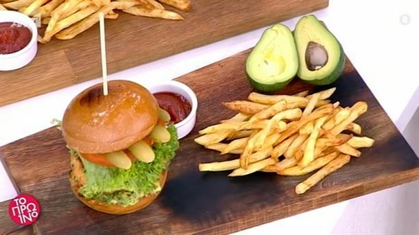 Burger με κοτόπουλο - Το Πρωινό – 24/03/2021