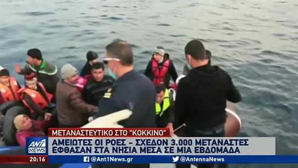 Μεταναστευτικό: 3.000 αφίξεις από τα τουρκικά παράλια μέσα σε μια εβδομάδα