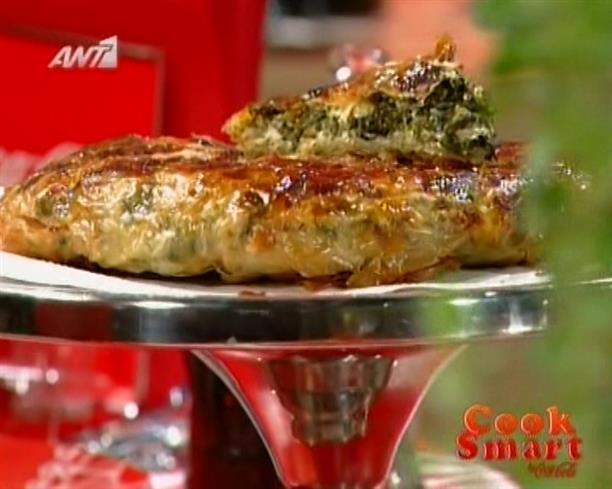 Σπανακόπιτα με μυρωδικά στο τηγάνι