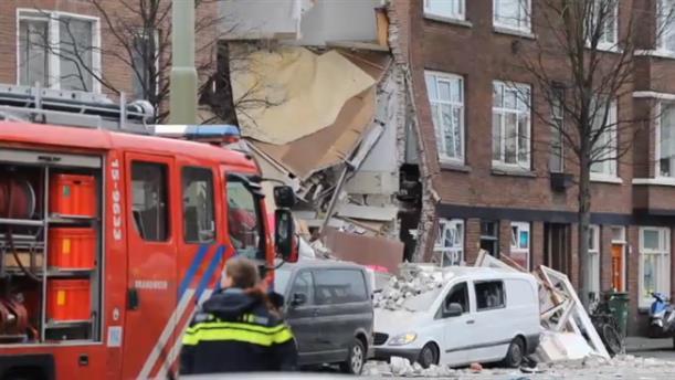 Χάγη: κατάρρευση κτηρίου έπειτα από έκρηξη