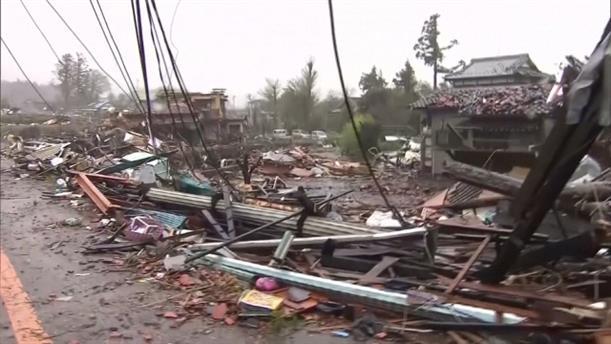 Κατεστραμμένα σπίτια από τον τυφώνα στην Ιαπωνία
