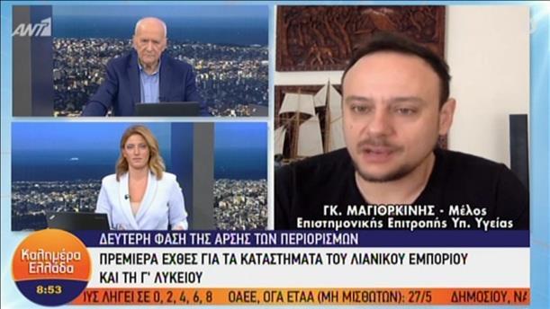 Ο Γκίκας Μαγιορκίνης στην εκπομπή «Καλημέρα Ελλάδα»