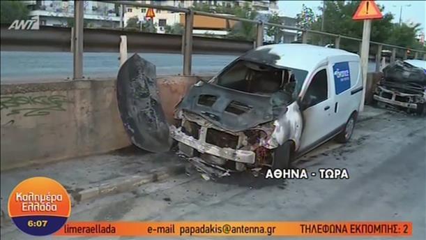 Μπαράζ εμπρησμών στην Αθήνα