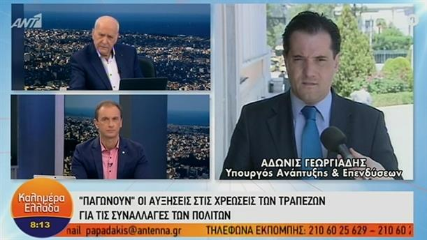 Α. Γεωργιάδης: Παγώνουν οι αυξήσεις των τραπεζών – ΚΑΛΗΜΕΡΑ ΕΛΛΑΔΑ – 01/11/2019