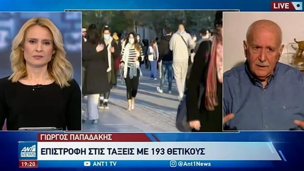 Ο Γιώργος Παπαδάκης για τα self test και τον συνωστισμό