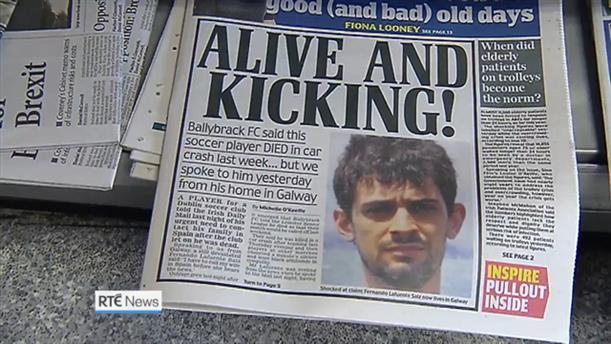 Ενός λεπτού σιγή για ποδοσφαιριστή που τελικά είναι ζωντανός