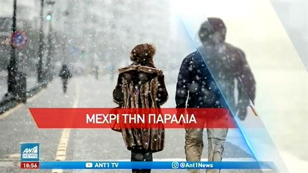 Ο «Λέανδρος» έντυσε στα λευκά τη Θεσσαλονίκη