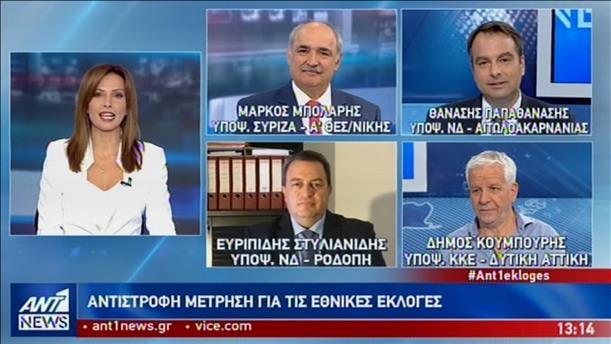 Εκλογές 2019: Μπόλαρης - Στυλιανίδης - Παπαθανάσης - Κουμπούρης στον ΑΝΤ1
