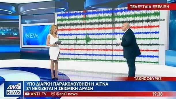 Υπό στενή παρακολούθηση οι εκρήξεις στην Αίτνα