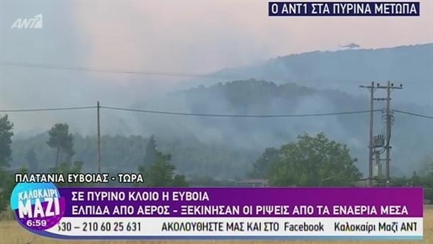 Σε πύρινο κλοιό η Εύβοια - ΚΑΛΟΚΑΙΡΙ ΜΑΖΙ – 14/08/2019