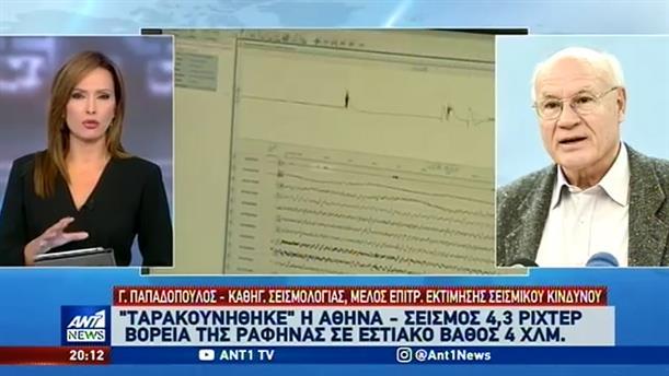 Ο Γεράσιμος Παπαδόπουλος στον ΑΝΤ1 για τον σεισμό στην Αττική