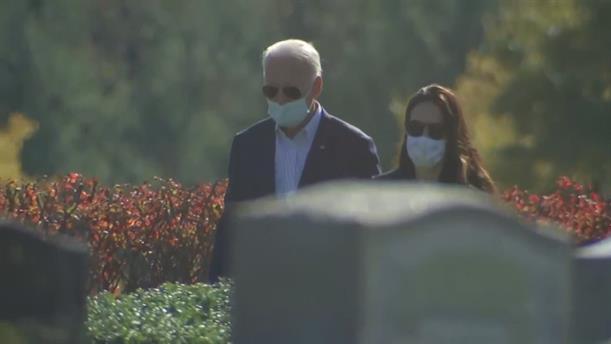 Εκλογές - ΗΠΑ: Ο Τζο Μπάιντεν επισκέφθηκε τον τάφο του γιου του