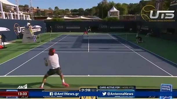 Ultimate Tennis Showdown: νέα νίκη για Τσιτσιπά