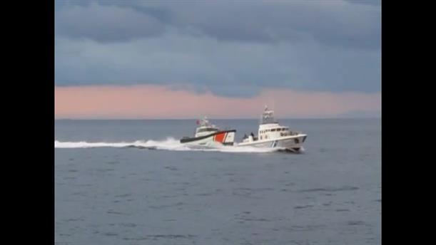 Παρενόχληση σκάφους του Λιμενικού απο τουρκική ακταιωρό