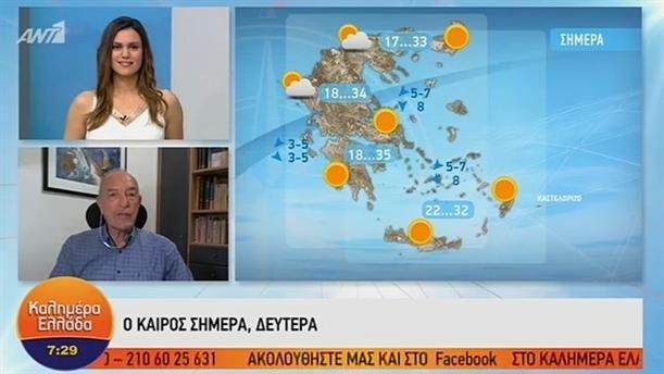 ΚΑΙΡΟΣ – ΚΑΛΗΜΕΡΑ ΕΛΛΑΔΑ - 01/07/2019