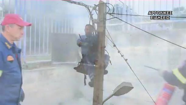 Πυρκαγιά  σε ρολόι της ΔΕΗ σε σχολείο στην Αργολίδα