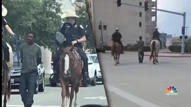 Αστυνομικοί σέρνουν με σχοινί αφροαμερικανό