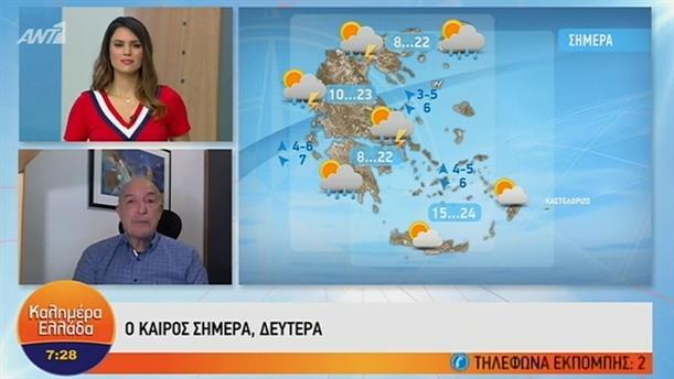 ΚΑΙΡΟΣ – ΚΑΛΗΜΕΡΑ ΕΛΛΑΔΑ - 13/05/2019