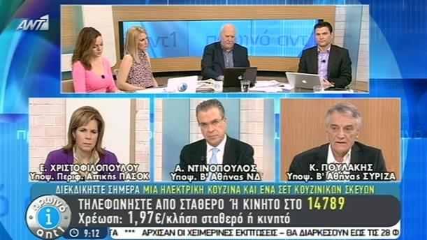 Πρωινό ΑΝΤ1 – Εκπομπή - 21/01/2015