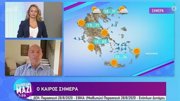 ΚΑΙΡΟΣ – ΚΑΛΟΚΑΙΡΙ ΜΑΖΙ - 28/08/2020