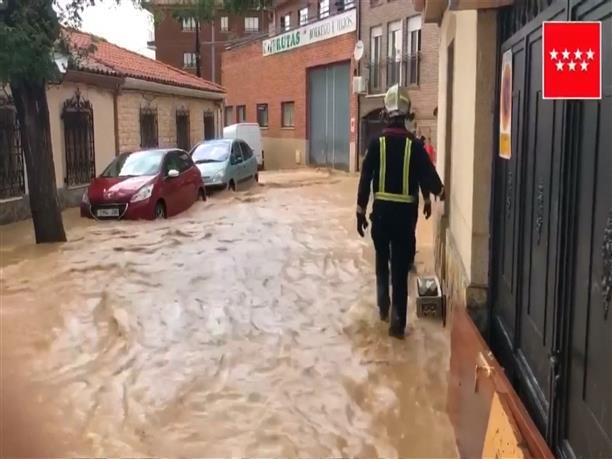 Πλημμύρες και στη Μαδρίτη