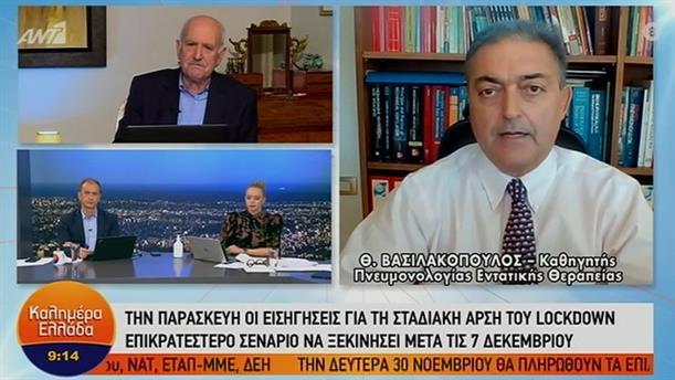 Θ. Βασιλακόπουλος - καθηγητής πνευμολογίας – ΚΑΛΗΜΕΡΑ ΕΛΛΑΔΑ – 26/11/2020