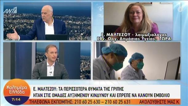 Η λοιμωξιολόγος Ε. Μαλτέζου για τα θύματα της γρίπης