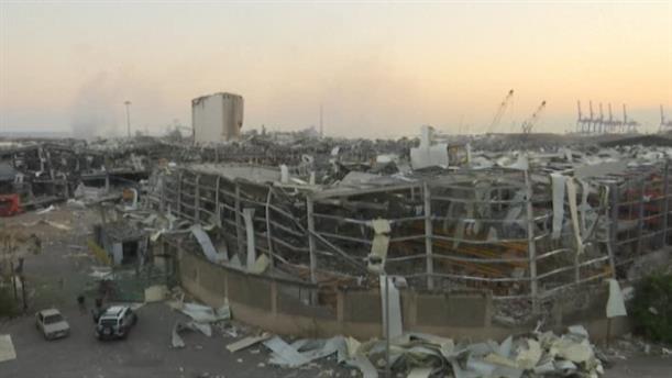 Εικόνες βιβλικής καταστροφής στη Βηρυτό