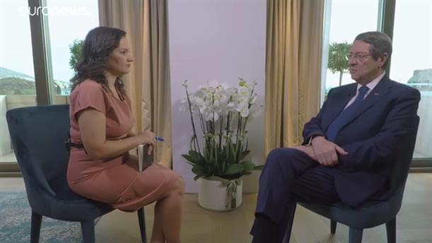 Αναστασιάδης στο euronews: Ο ταραξίας πρέπει να συμμορφωθεί