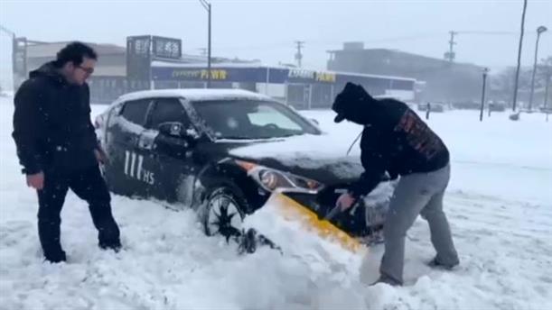 Χιόνια στη Νεμπράσκα