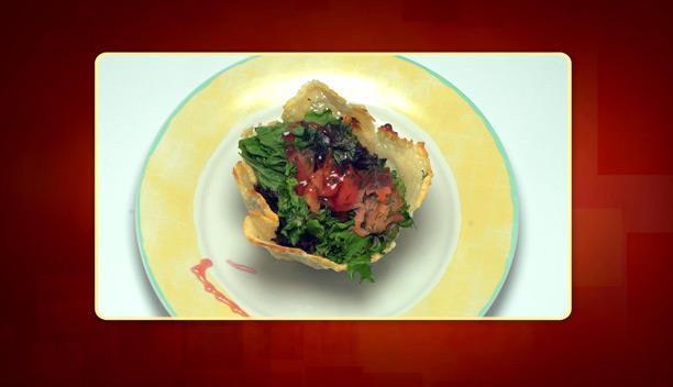Φωλιά από μετσοβόνε με σολομό και λαχανικά του Πάνου - Επεισόδιο 22