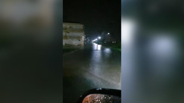«Πλημμύρισαν» οι δρόμοι στη Χαλκιδική