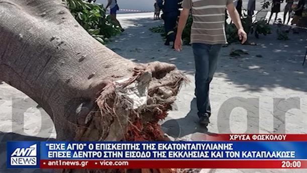 Δέντρο καταπλάκωσε άνδρα έξω από την Παναγία την Εκατονταπυλιανή
