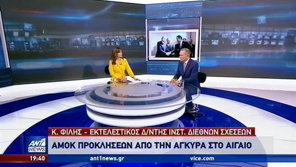 """Φίλης στον ΑΝΤ1: οι ελληνικές κινήσεις """"ενοχλούν"""" την Άγκυρα"""