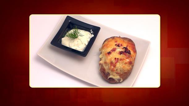 Πατάτες γεμιστές με τυρί, κοτόπουλο και μανιτάρια της Ελένης - Ορεκτικό - Επεισόδιο 32