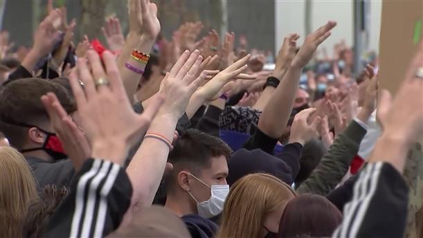 Διαδήλωση για τον κορονοϊό στη Μαδρίτη