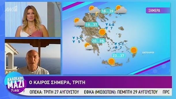 Καιρός - ΚΑΛΟΚΑΙΡΙ ΜΑΖΙ - 27/08/2019