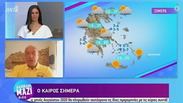 ΚΑΙΡΟΣ – ΚΑΛΟΚΑΙΡΙ ΜΑΖΙ - 14/08/2020