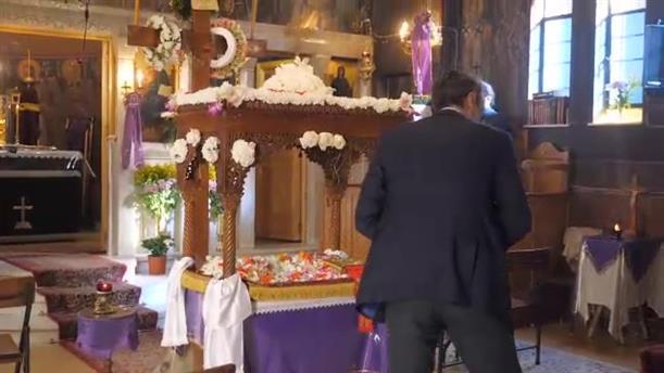 Ο Κυριάκος Μητσοτάκης στον Ιερό Ναό του Ευαγγελιστού Λουκά στο «Ιπποκράτειο»