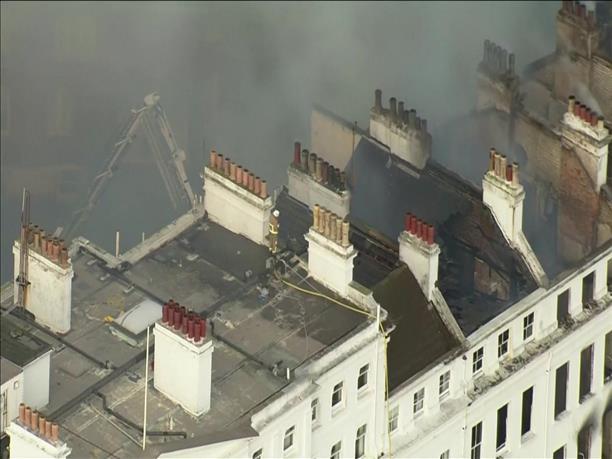 """""""Κόλαση"""" φωτιάς σε ξενοδοχείο στην Βρετανία"""