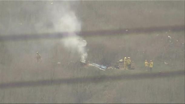 Εναέριες λήψεις απο το σημείο όπου έπεσε το ελικόπτερο με τον Κ. Μπράιαντ